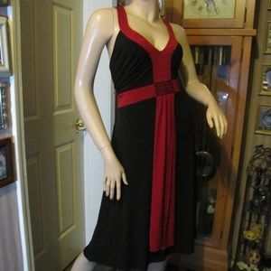 Studio 1940 Red & Black Dress with Beading 18W